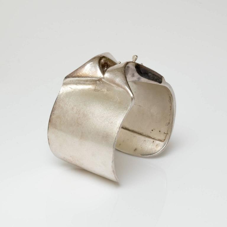 Patinated Sterling silver bracelet designed by the great Bjorn Weckstrom for Lapponia, Finland
