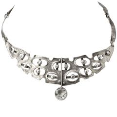 Scandinavian Modern Sterling Silver Necklace by Issac Cohen, Stockholm