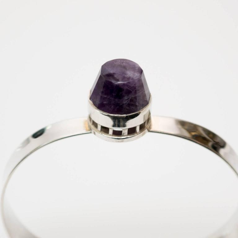 Women's Scandinavain Modern, Pege - Alton Sterling Silver bracelet with purple stone. For Sale
