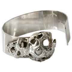 Mid-century Modern Silver bracelet with crystal Peter Von Post, 1971, Stockholm