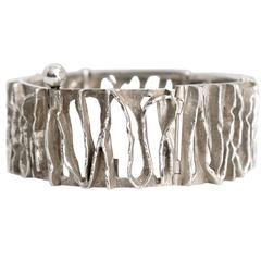 Scandinavian Modern Silver bracelet from C. Holm, Denmark, 1950's