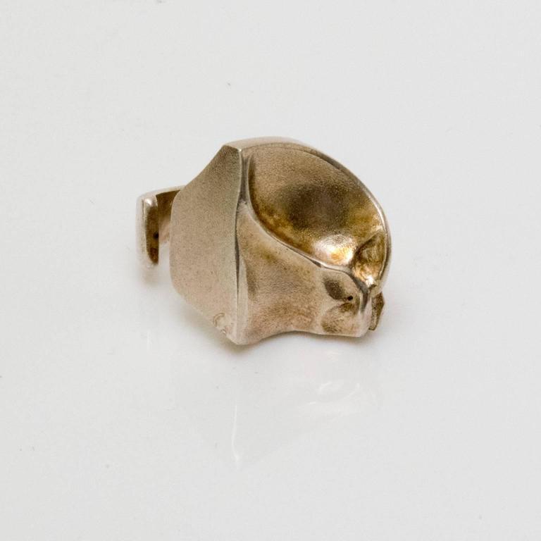 "Modernist Scandinavian Modern Silver ""Sagitta"" ring by Björn Weckström, Lapponia, Finland For Sale"