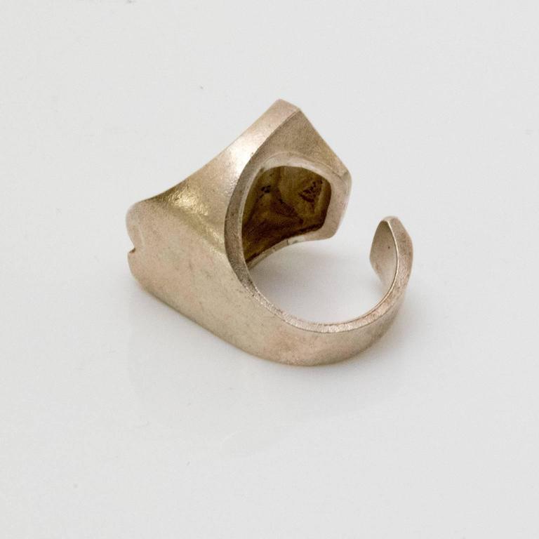 "Women's Scandinavian Modern Silver ""Sagitta"" ring by Björn Weckström, Lapponia, Finland For Sale"