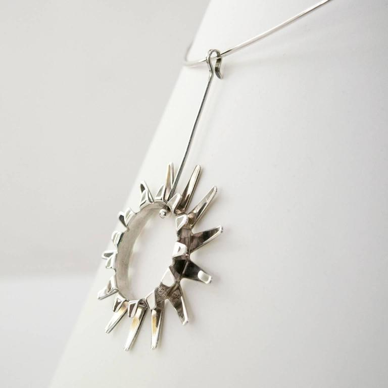 Women's Scandinavian Modern Silver necklace by Tone Vigeland Norway Designs Plus Studios For Sale