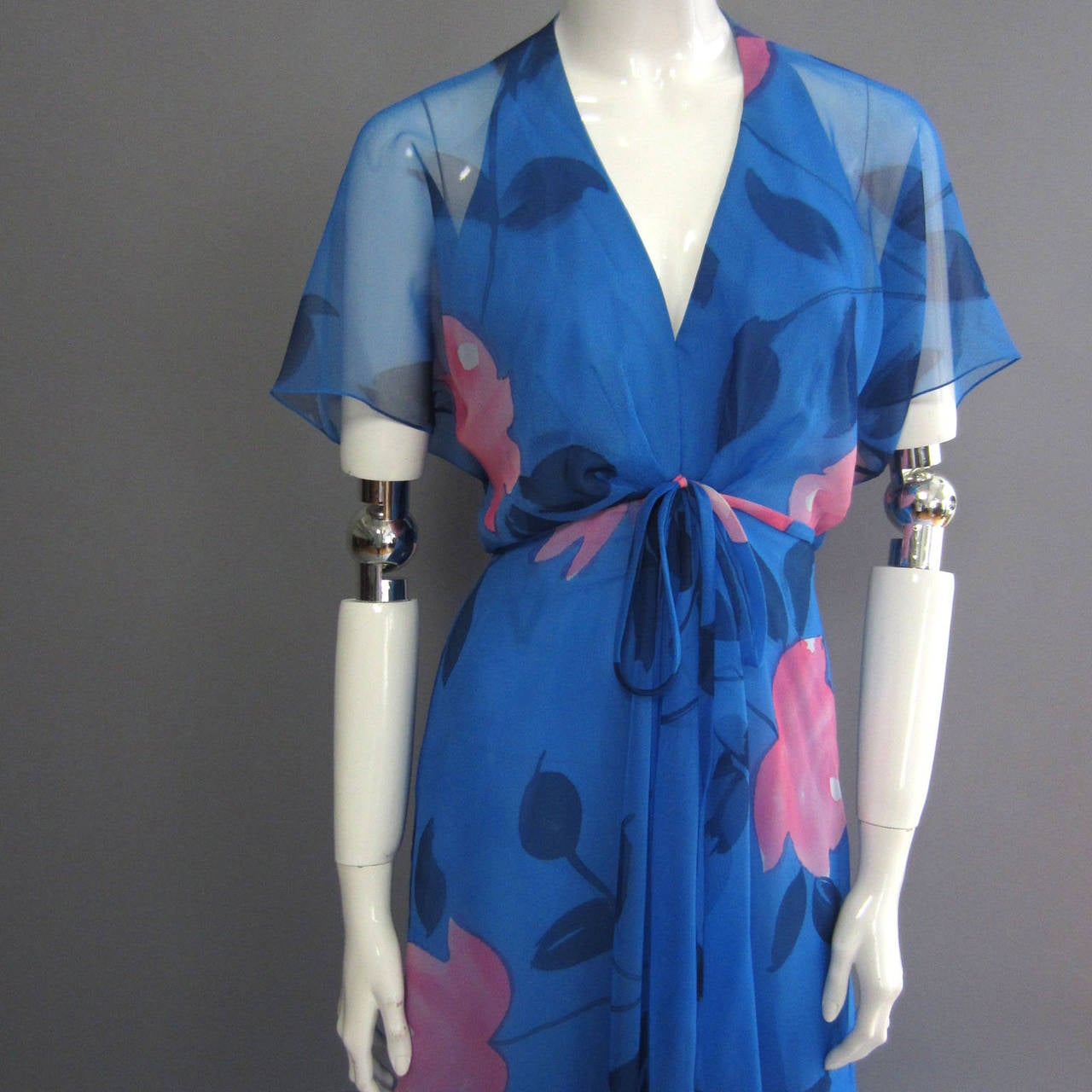 1970s ESTEVEZ Floral Print Maxi Dress 4