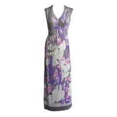 1970s LEONARD Printed Maxi Dress