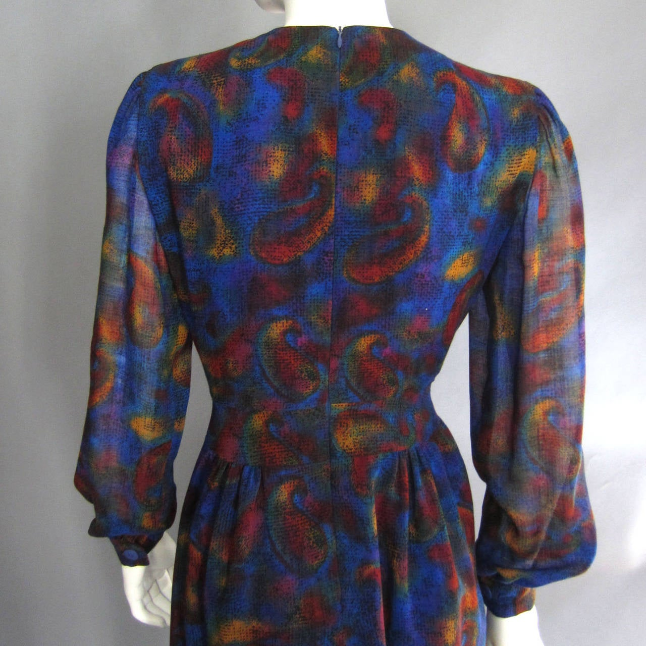 PAULINE TRIGERE Paisley Print Cocktail Dress For Sale 2