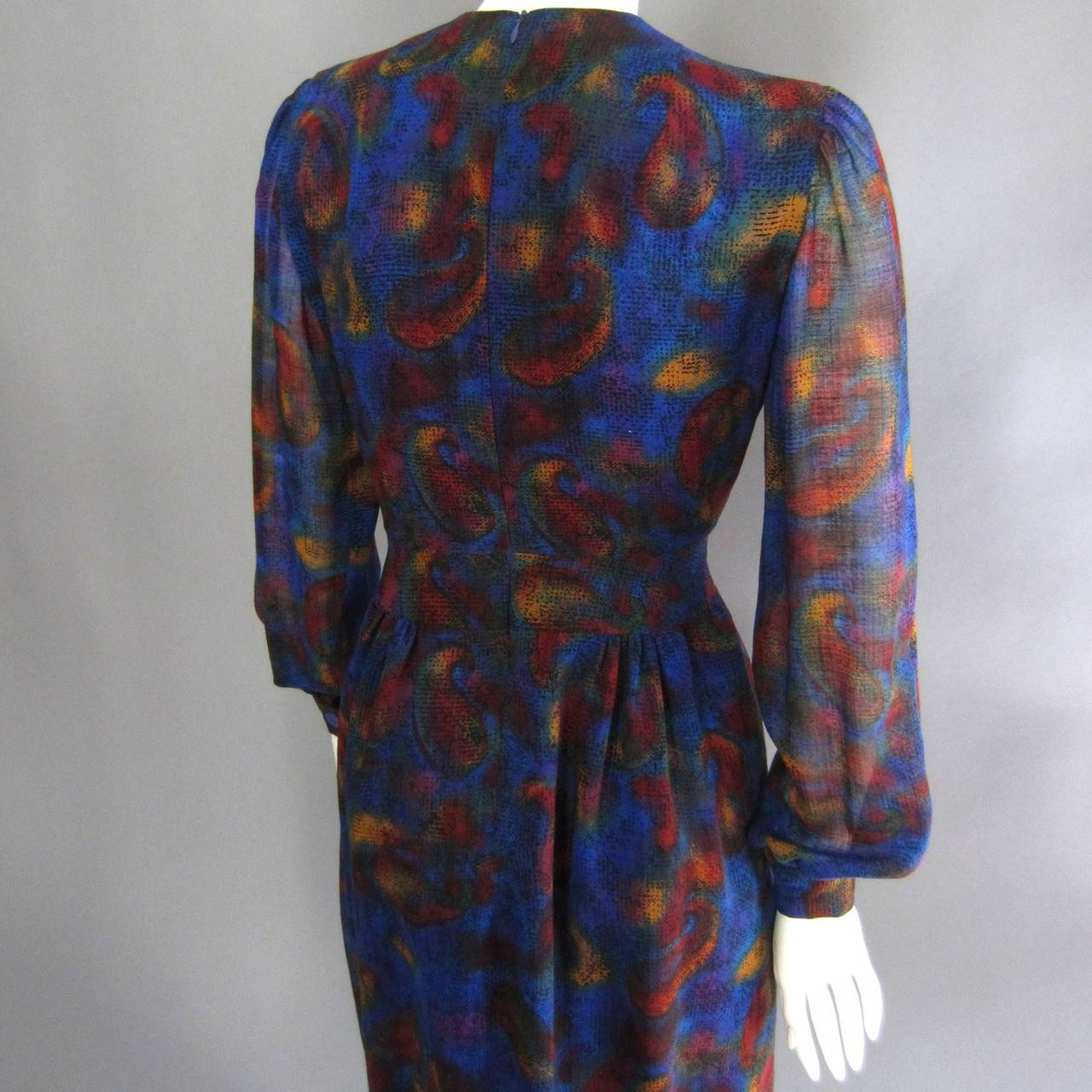 Women's PAULINE TRIGERE Paisley Print Cocktail Dress For Sale