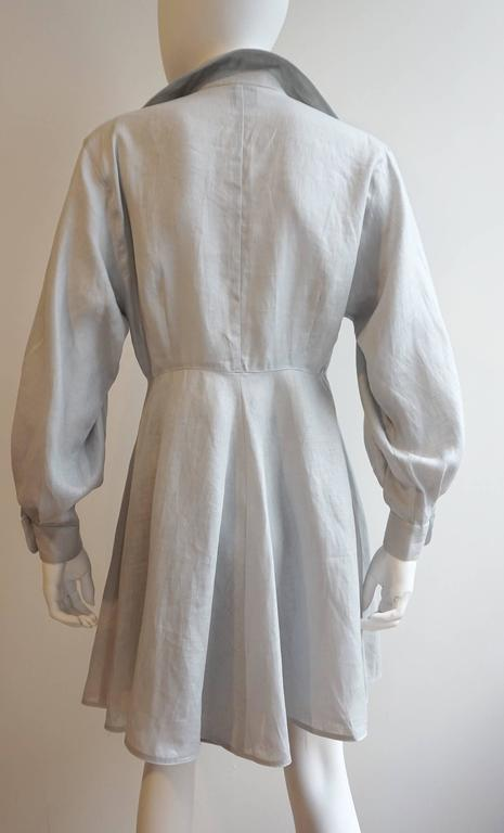 CLAUDE MONTANA Linen Tunic with Matching Crepe Shorts Ensemble 4