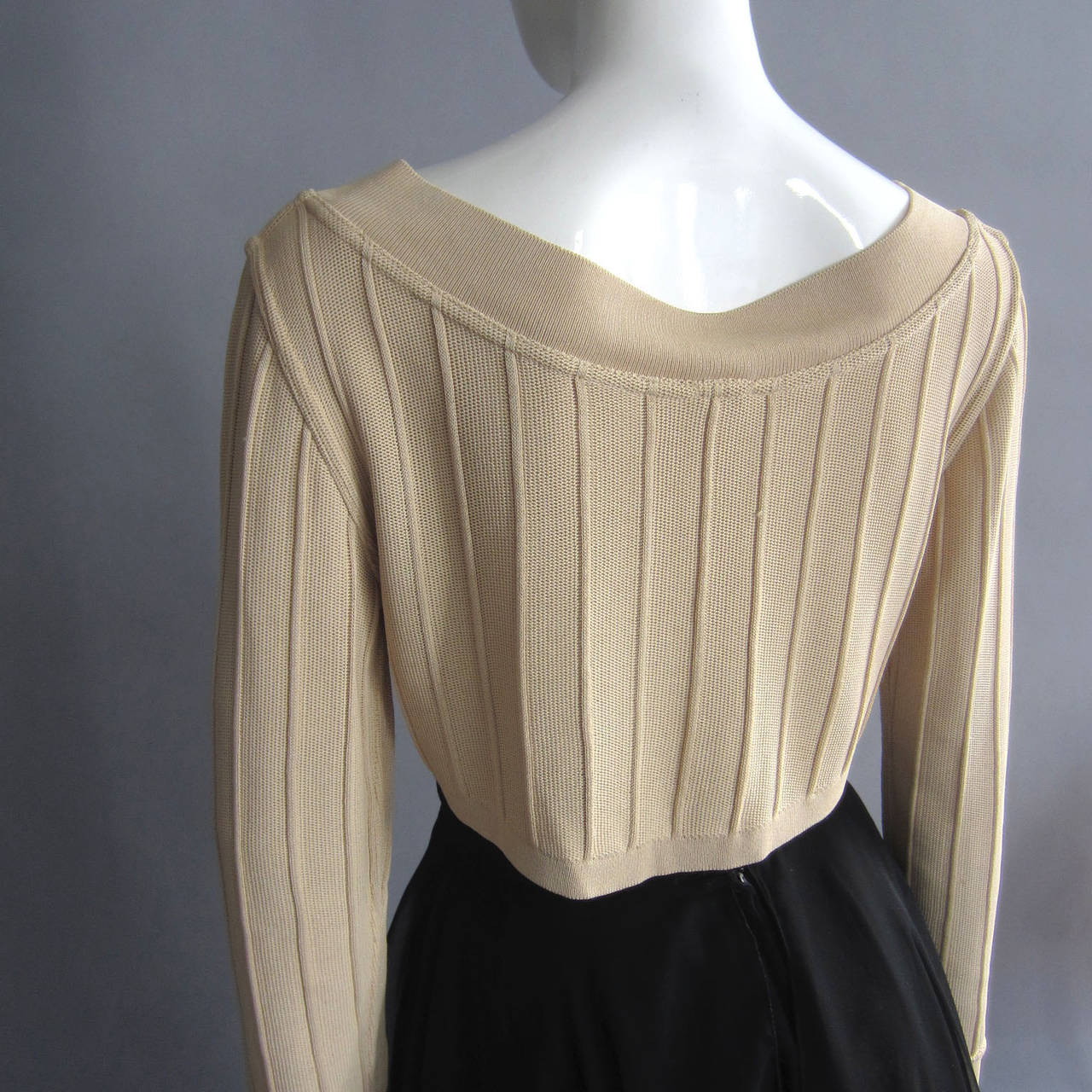ALAIA Crop Top with Seam Detailing For Sale 1