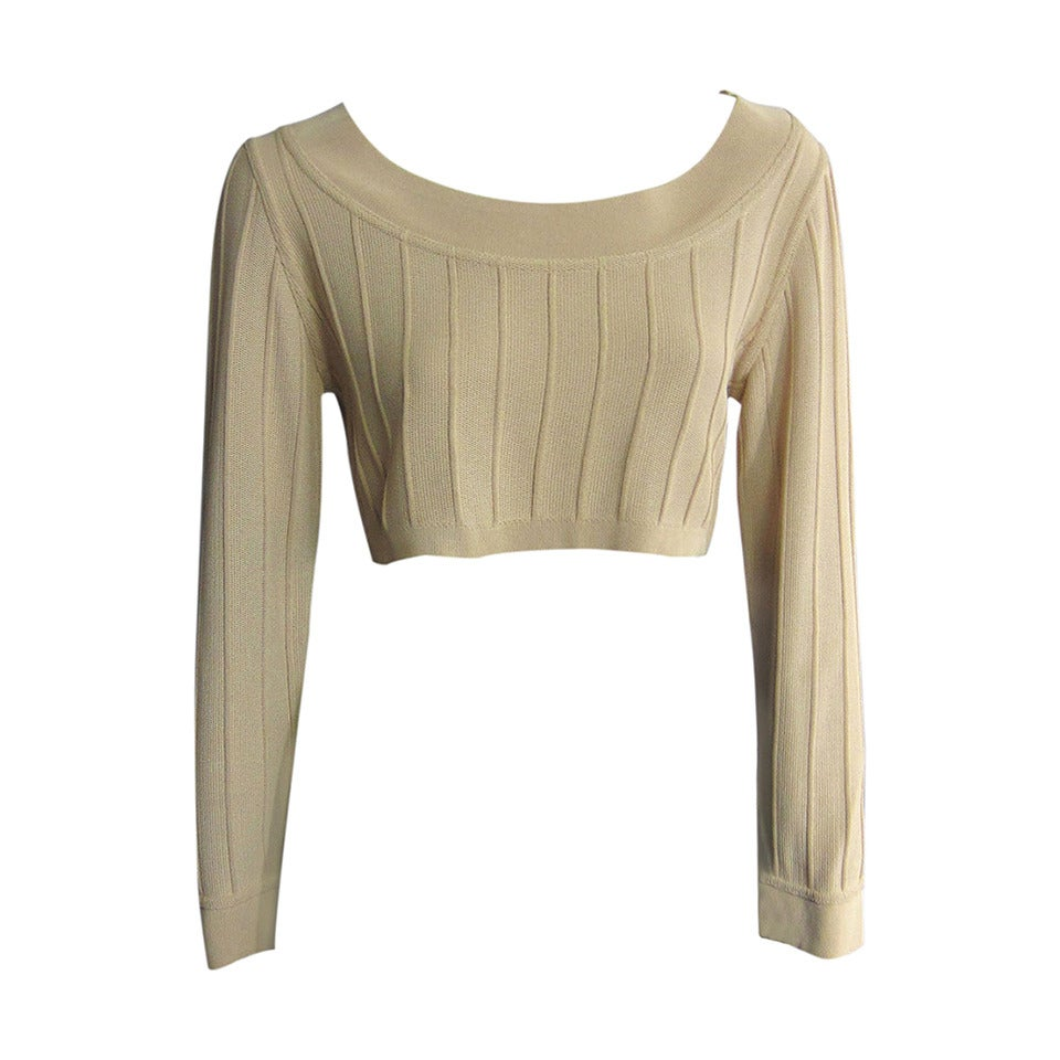ALAIA Crop Top with Seam Detailing 1