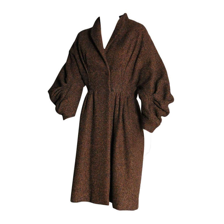 PAULINE TRIGERE Brown Wool Coat 1