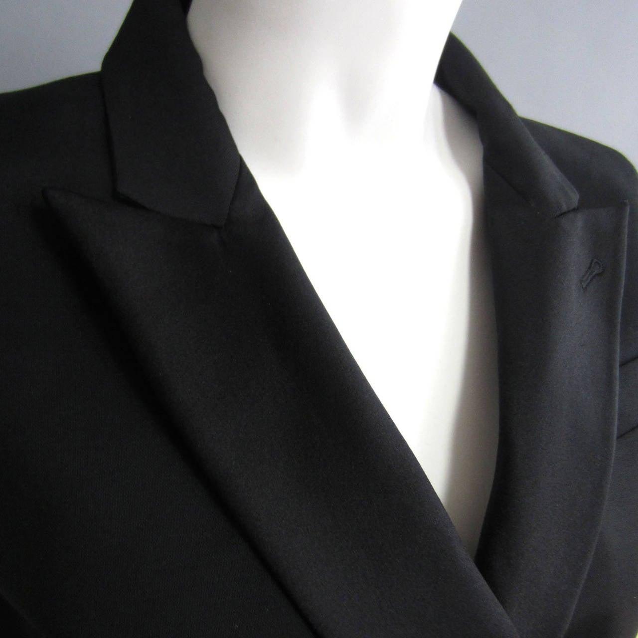 Black 2000s ALEXANDER McQUEEN Tuxedo Jumpsuit For Sale