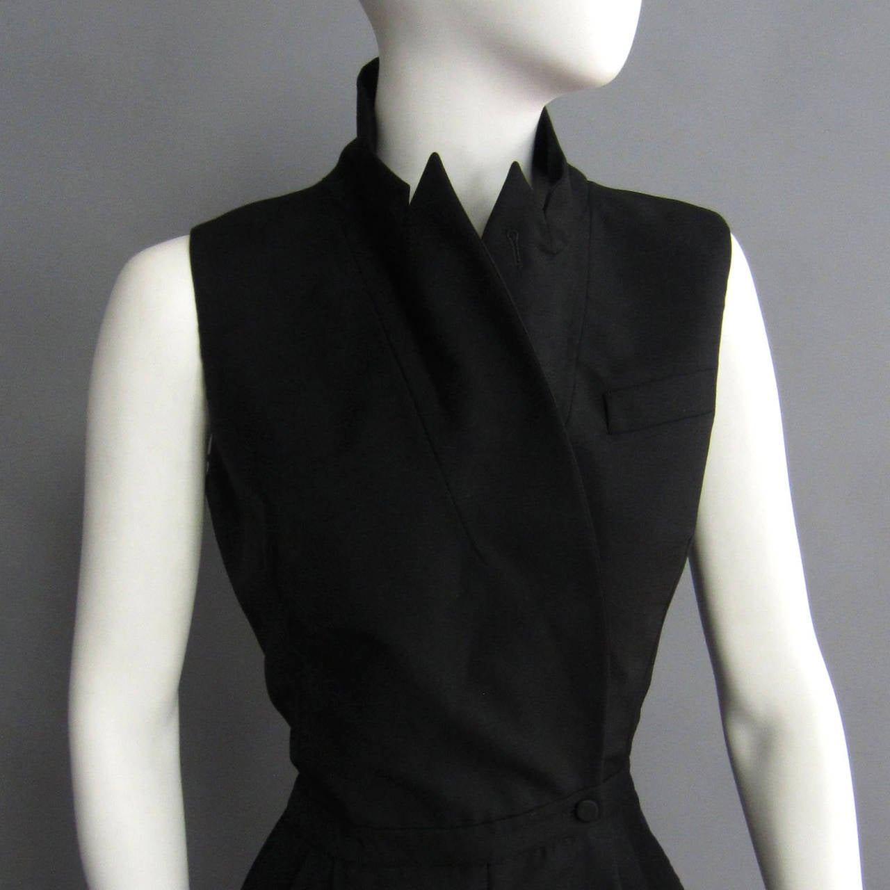 2000s ALEXANDER McQUEEN Tuxedo Jumpsuit In Excellent Condition For Sale In New York, NY