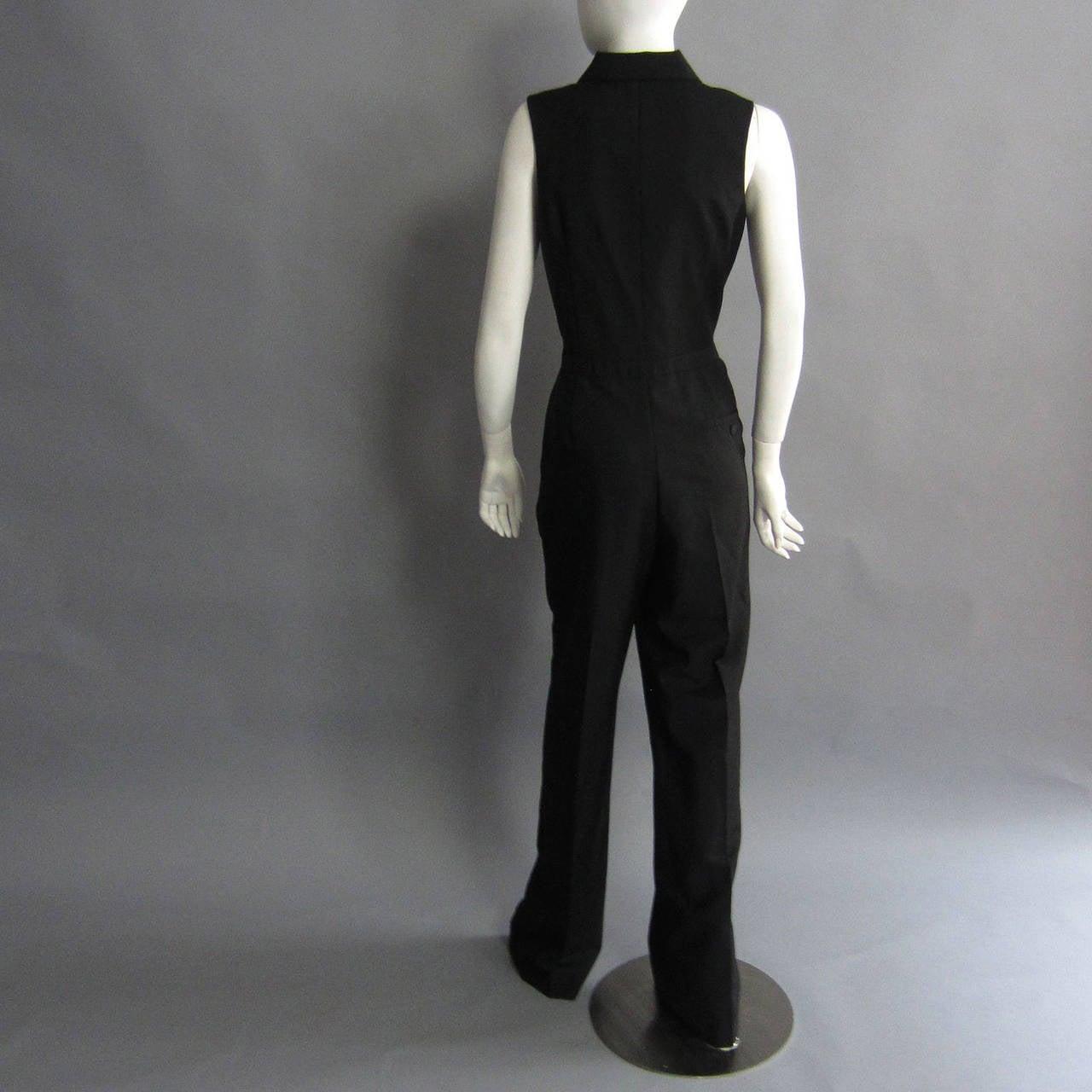 Women's 2000s ALEXANDER McQUEEN Tuxedo Jumpsuit For Sale