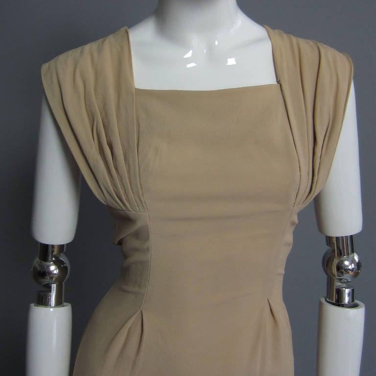 1940s Silk Crepe Cocktail Dress 2