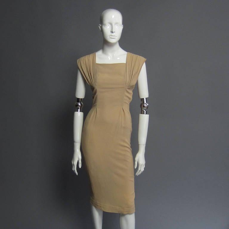 1940s Silk Crepe Cocktail Dress 4