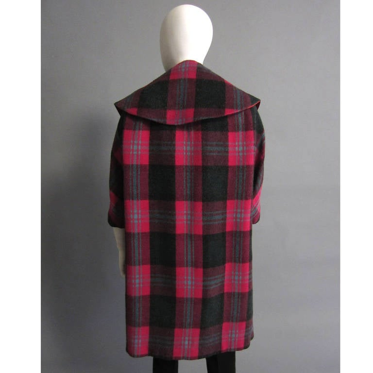1960s Plaid Coat with Detachable Collar 6