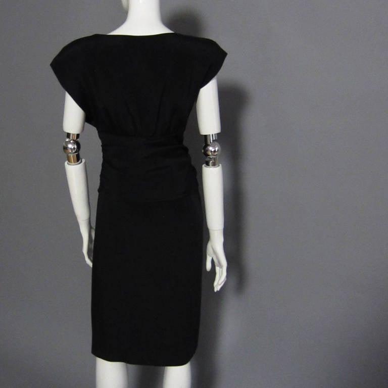 CAROLYN ROEHM Little Black Cocktail Dress For Sale 1