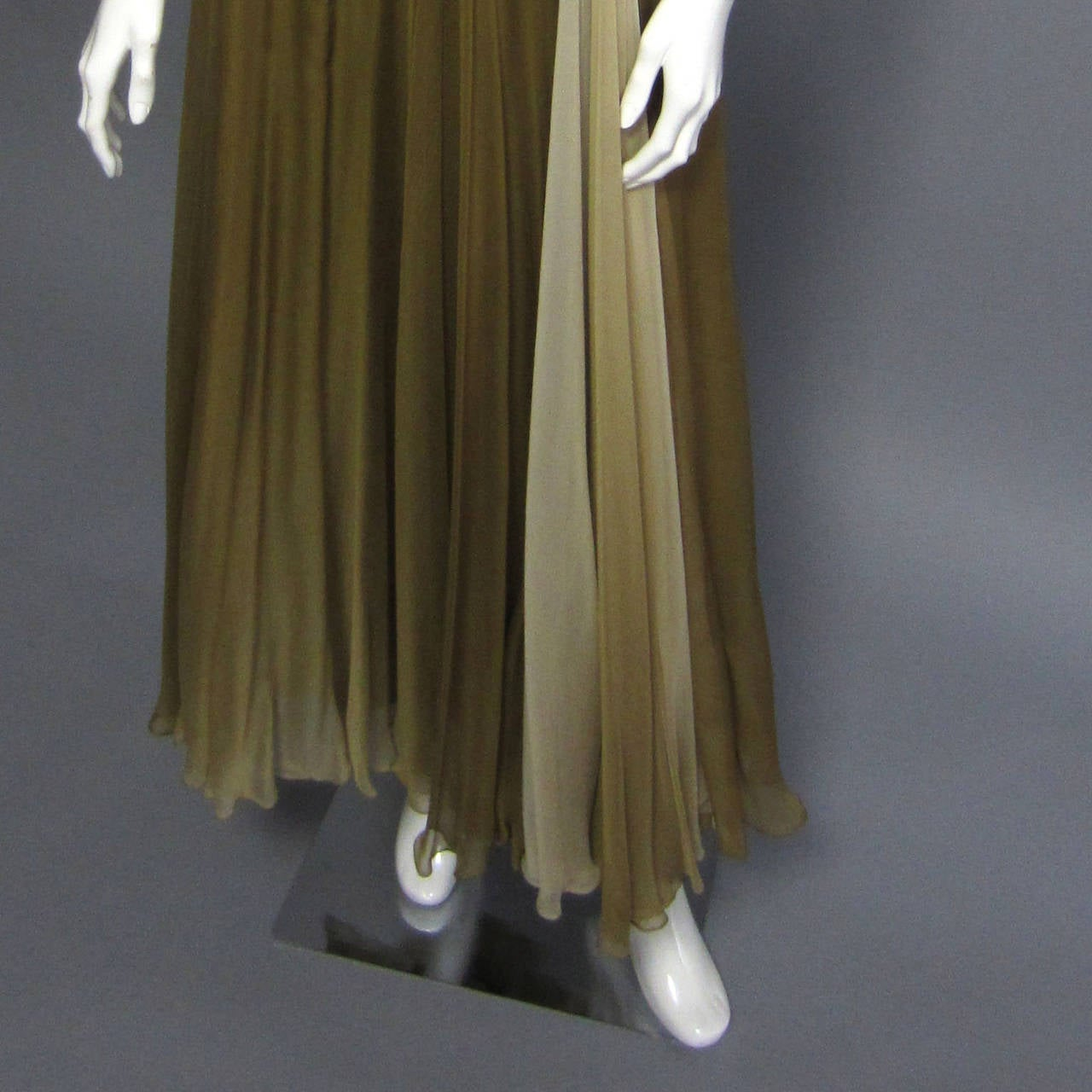 BOB MACKIE Ombre Chiffon Gown 4
