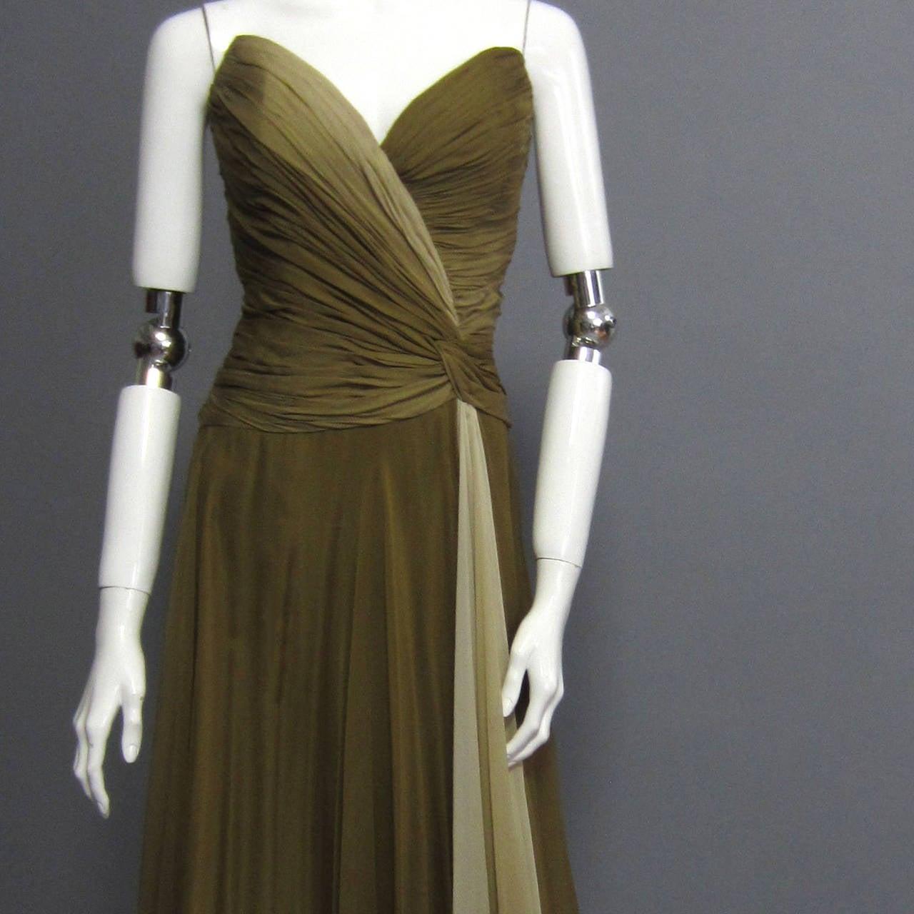 BOB MACKIE Ombre Chiffon Gown 3