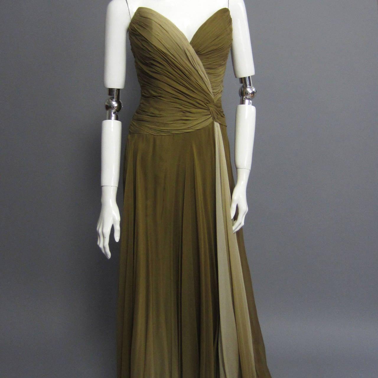 BOB MACKIE Ombre Chiffon Gown 5
