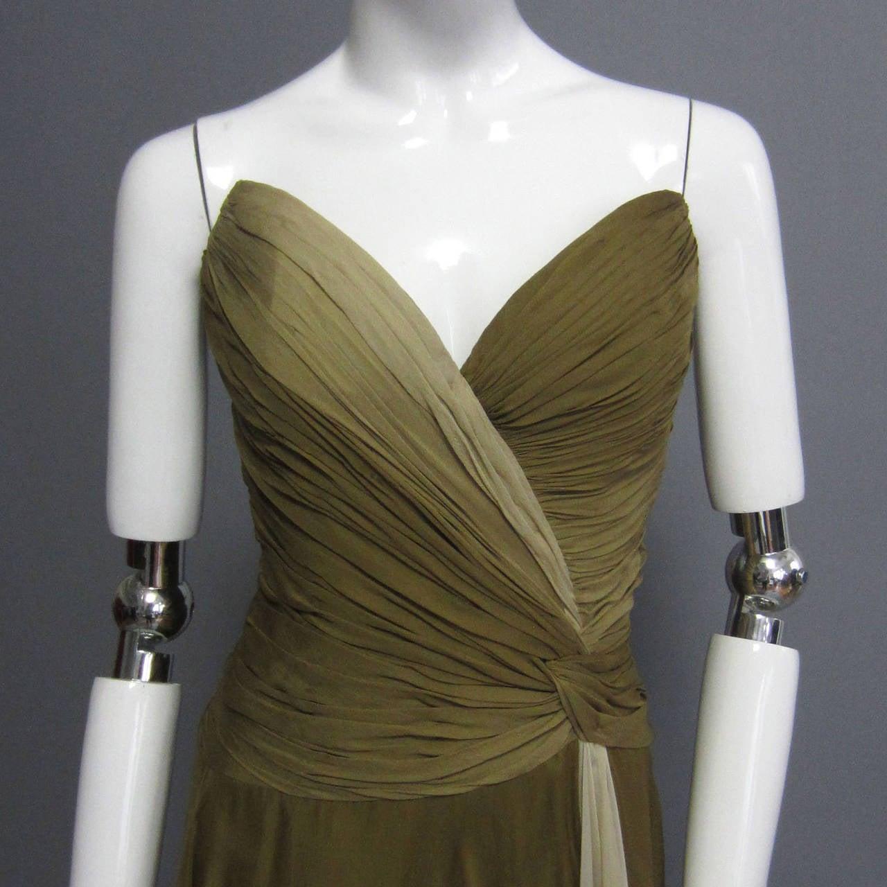 BOB MACKIE Ombre Chiffon Gown 2