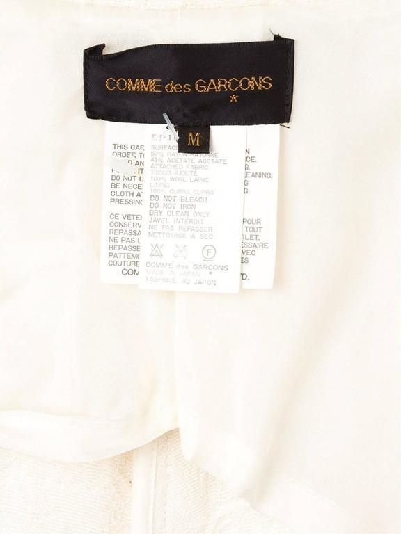 1993  COMME DES GARÇONS Contrast hem jacquard coat For Sale 2