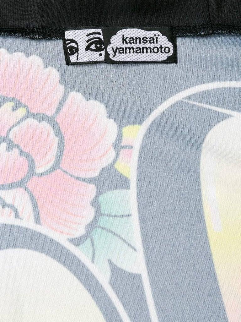 KANSAI YAMAMOTO Kabuki hooded batwing cropped jumper 4