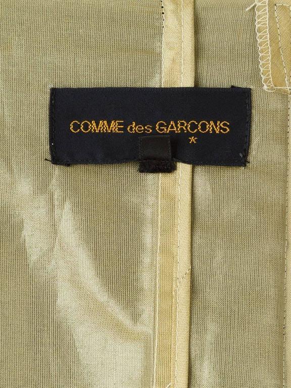 1997 COMME des GARÇONS Rei Kawakubo black and gold layered coat jacket 6