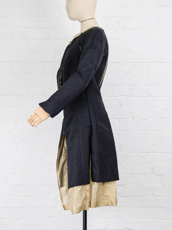 1997 COMME des GARÇONS Rei Kawakubo black and gold layered coat jacket 3