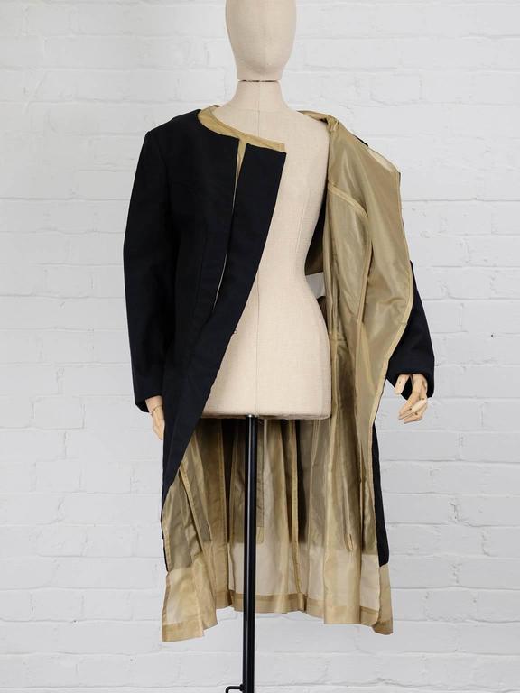 1997 COMME des GARÇONS Rei Kawakubo black and gold layered coat jacket 4