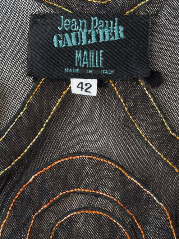 1989 JEAN PAUL GAULTIER appliqué sheer dress ( Vogue UK Madonna 1989 cover ) For Sale 2