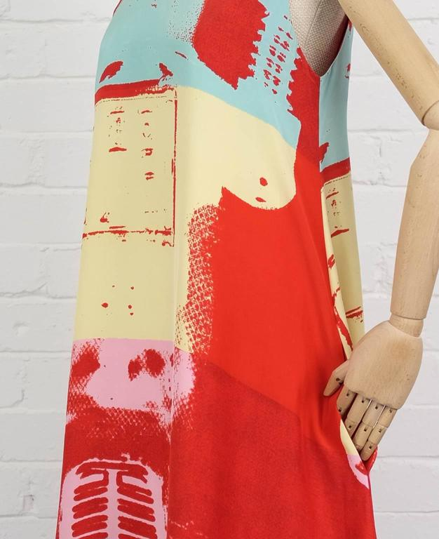 90's STEPHEN SPROUSE Andy Warhol graphic print dress 3
