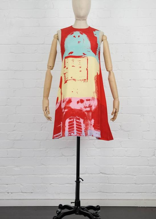 90's STEPHEN SPROUSE Andy Warhol graphic print dress 2