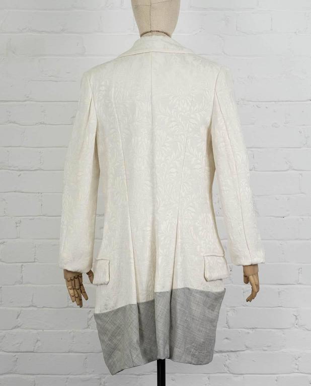 Women's 1993  COMME DES GARÇONS Contrast hem jacquard coat For Sale