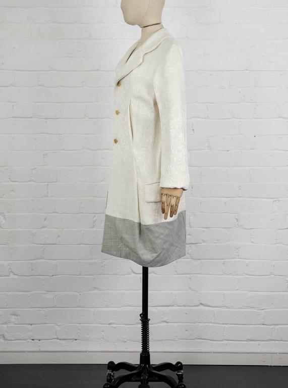 1993  COMME DES GARÇONS Contrast hem jacquard coat In Excellent Condition For Sale In London, GB