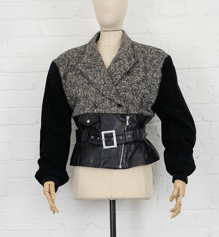 Black 'Forbidden Gaultier' 1987/88 JEAN PAUL GAULTIER biker jacket For Sale