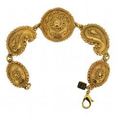 Ungaro 1980s Paisley Design Vintage Bracelet