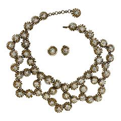 Roger Scemama 1950s Vintage Necklace and Earrings Set