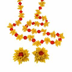 Christian Dior 1967 Lucite Flowers Vintage Necklace and Earrings Set