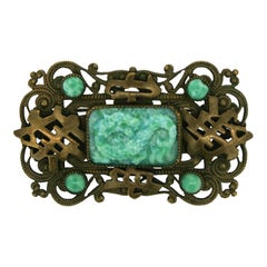 Max Neiger 1920s Oriental Inspired Vintage Brooch