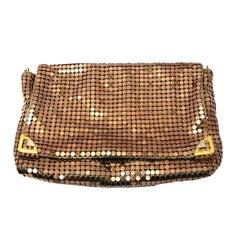 Glomesh 1970s Rose Gold Mesh Vintage Handbag