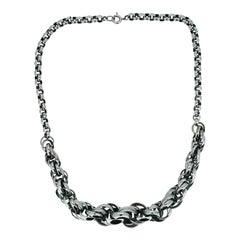 Jakob Bengel 1930s Chrome Plated Vintage Chain Necklace
