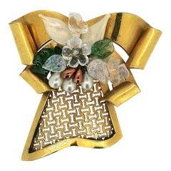 Louis Rousselet 1940s Vintage Bow Brooch