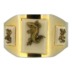 Jean Painlevé 1930s Salamander Design Vintage Bangle