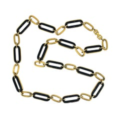 Givenchy 1980s Gold Tone Vintage Link Necklace