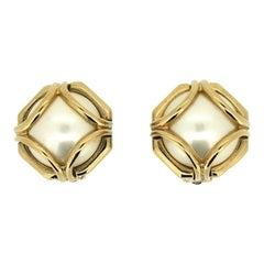Ciner 1980s Vintage Faux Pearl Earrings