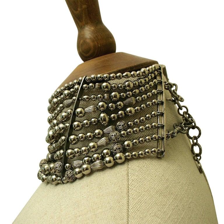 John Galliano for Christian Dior 1990s Maasai Inspired Vintage Choker Necklace 8
