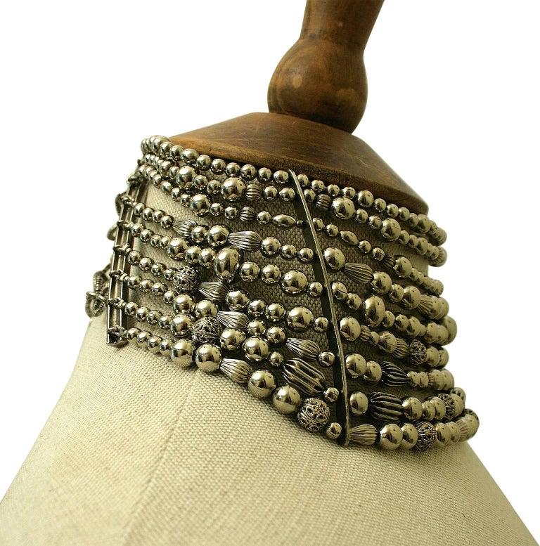John Galliano for Christian Dior 1990s Maasai Inspired Vintage Choker Necklace 7